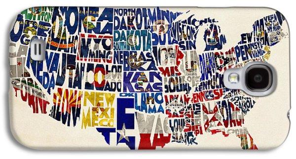 Nebraska. Galaxy S4 Cases - United States Flags Map Galaxy S4 Case by Ayse Deniz