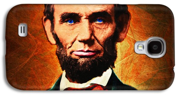 Slavery Galaxy S4 Cases - United States President Abraham Lincoln 20140914 square Galaxy S4 Case by Wingsdomain Art and Photography