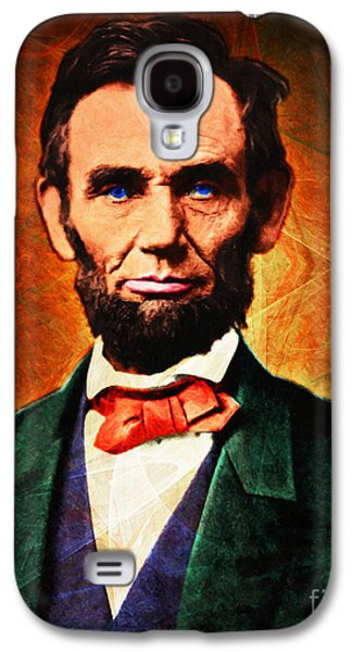 Slavery Digital Art Galaxy S4 Cases - United States President Abraham Lincoln 20140914 Galaxy S4 Case by Wingsdomain Art and Photography