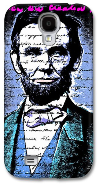 4th July Galaxy S4 Cases - United States President Abraham Lincoln Gettysburg Address All Men Are Created Equal 20140914poster Galaxy S4 Case by Wingsdomain Art and Photography