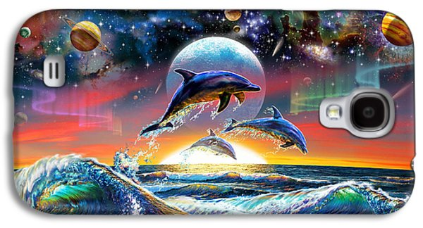 Universal Dolphins Galaxy S4 Case by Adrian Chesterman