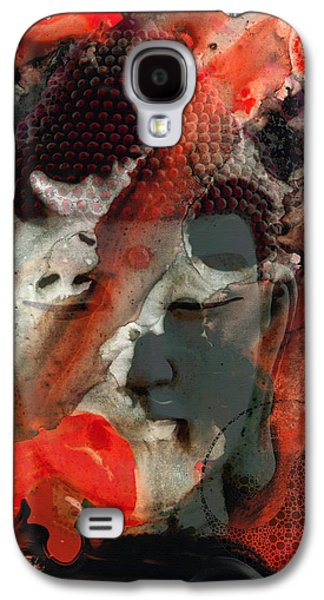 Yang Galaxy S4 Cases - Universal Qi - Zen Black And Red Art Galaxy S4 Case by Sharon Cummings