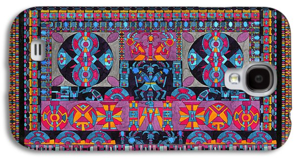 Americans Tapestries - Textiles Galaxy S4 Cases - Universe In Dance Galaxy S4 Case by Lawrence Chvotzkin