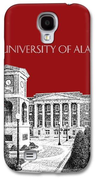 Crimson Tide Galaxy S4 Cases - University of Alabama #2 - Dark Red Galaxy S4 Case by DB Artist