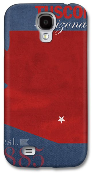 Universities Mixed Media Galaxy S4 Cases - University of Arizona Wildcats Tuscon Arizona College Town State Map Poster Series No 011 Galaxy S4 Case by Design Turnpike