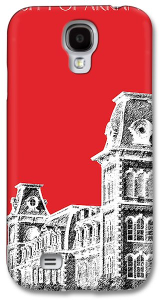 Universities Digital Art Galaxy S4 Cases - University of Arkansas - Red Galaxy S4 Case by DB Artist