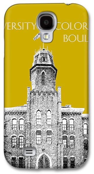 Buffalo Art Digital Art Galaxy S4 Cases - University of Colorado Boulder - Gold Galaxy S4 Case by DB Artist
