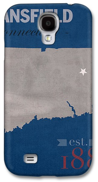Husky Galaxy S4 Cases - University of Connecticut Huskies Mansfield College Town State Map Poster Series No 033 Galaxy S4 Case by Design Turnpike