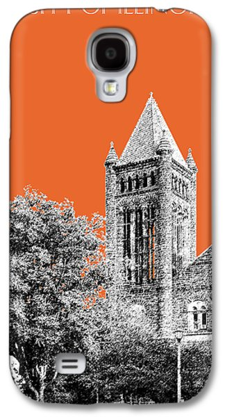 Universities Digital Art Galaxy S4 Cases - University of Illinois 2 - Altgeld Hall - Coral Galaxy S4 Case by DB Artist