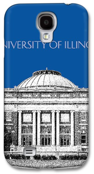Universities Digital Art Galaxy S4 Cases - University of Illinois Foellinger Auditorium - Royal Blue Galaxy S4 Case by DB Artist