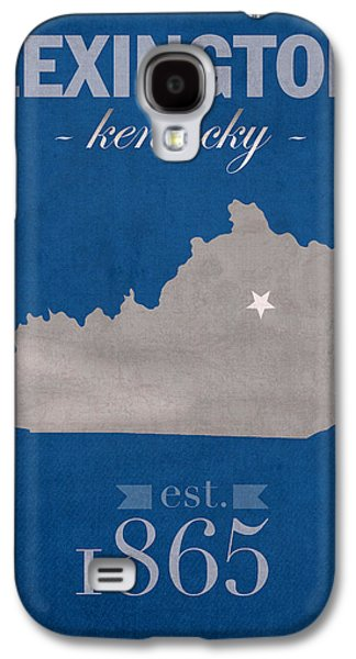 Universities Mixed Media Galaxy S4 Cases - University of Kentucky Wildcats Lexington Kentucky College Town State Map Poster Series No 054 Galaxy S4 Case by Design Turnpike
