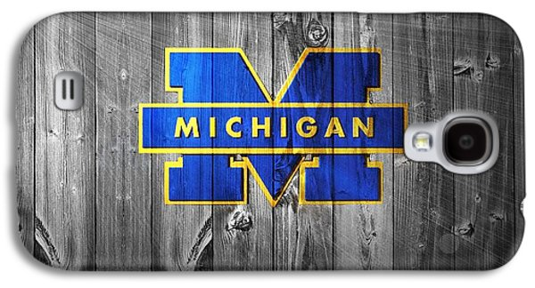 Universities Mixed Media Galaxy S4 Cases - University Of Michigan Galaxy S4 Case by Dan Sproul