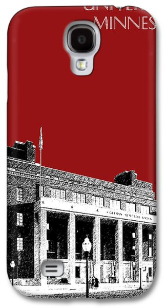 Universities Digital Art Galaxy S4 Cases - University of Minnesota - Coffman Union - Dark Red Galaxy S4 Case by DB Artist