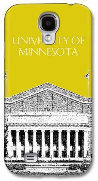 Universities Digital Art Galaxy S4 Cases - University of Minnesota 2 - Northrop Auditorium - Mustard Yellow Galaxy S4 Case by DB Artist