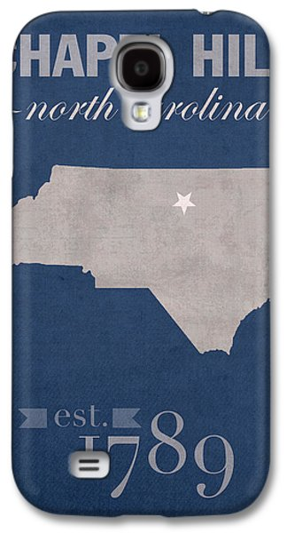 University Galaxy S4 Cases - University of North Carolina Tar Heels Chapel Hill UNC College Town State Map Poster Series No 076 Galaxy S4 Case by Design Turnpike