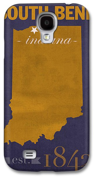 Universities Mixed Media Galaxy S4 Cases - University of Notre Dame Fighting Irish South Bend College Town State Map Poster Series No 081 Galaxy S4 Case by Design Turnpike