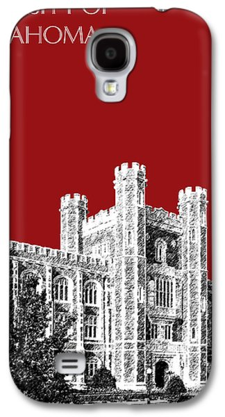 Universities Digital Art Galaxy S4 Cases - University of Oklahoma - Dark Red Galaxy S4 Case by DB Artist