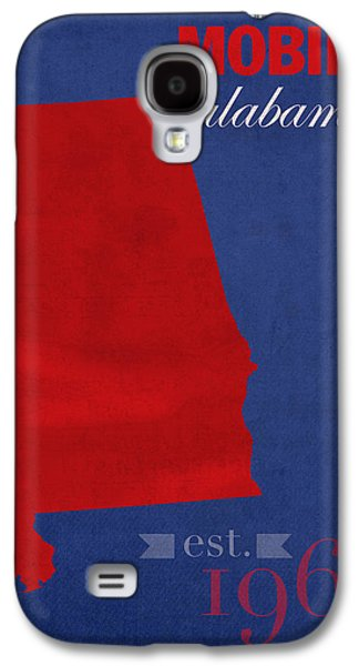 University Of Alabama Galaxy S4 Cases - University of South Alabama Jaguars Mobile College Town State Map Poster Series No 095 Galaxy S4 Case by Design Turnpike