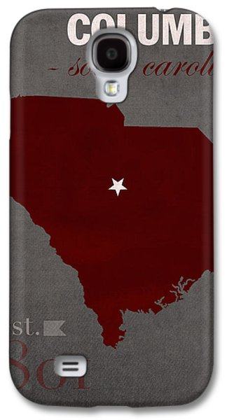 Universities Mixed Media Galaxy S4 Cases - University of South Carolina Gamecocks Columbia College Town State Map Poster Series No 096 Galaxy S4 Case by Design Turnpike