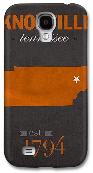 University Galaxy S4 Cases - University of Tennessee Volunteers Knoxville College Town State Map Poster Series No 104 Galaxy S4 Case by Design Turnpike