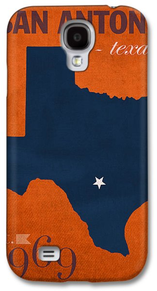 At Poster Mixed Media Galaxy S4 Cases - University of Texas at San Antonio Roadrunners College Town State Map Poster Series No 111 Galaxy S4 Case by Design Turnpike