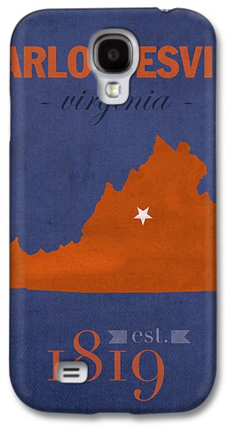 University Galaxy S4 Cases - University of Virginia Cavaliers Charlotteville College Town State Map Poster Series No 119 Galaxy S4 Case by Design Turnpike