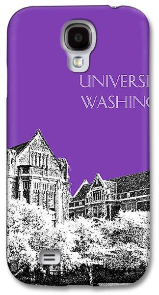Quad Galaxy S4 Cases - University of Washington 2 - The Quad - Purple Galaxy S4 Case by DB Artist