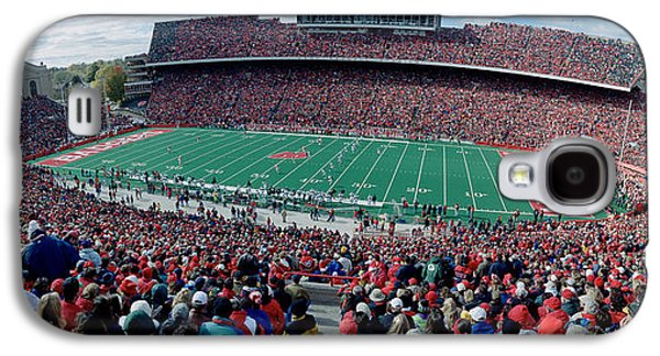 Sports Photographs Galaxy S4 Cases - University Of Wisconsin Football Game Galaxy S4 Case by Panoramic Images