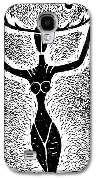 Unmasked Inner Goddess Galaxy S4 Case by e9Art