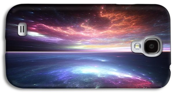 Sunset Abstract Galaxy S4 Cases - Unreal Seas Galaxy S4 Case by Joshua Sweeney