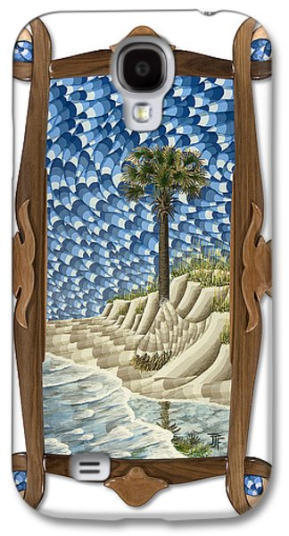 Beach Landscape Sculptures Galaxy S4 Cases - Unrelenting with original frame Galaxy S4 Case by John Jameson Frost