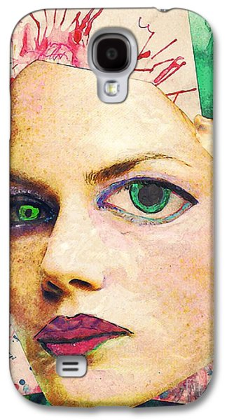 Avant Garde Mixed Media Galaxy S4 Cases - Unsettling Gaze Galaxy S4 Case by Sarah Loft