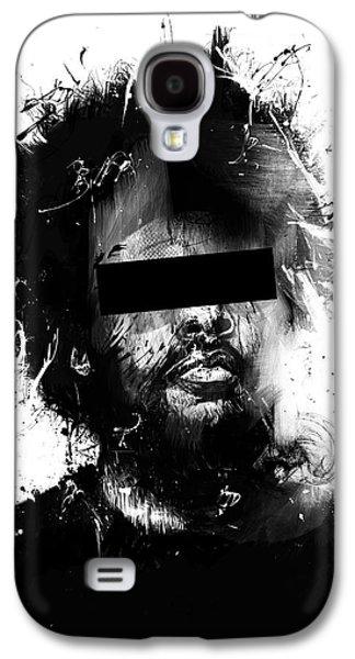 Black Man Galaxy S4 Cases - Untitled Galaxy S4 Case by Balazs Solti