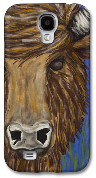 Bison Pastels Galaxy S4 Cases - Untitled Buffalo 1 Galaxy S4 Case by Dana Strotheide