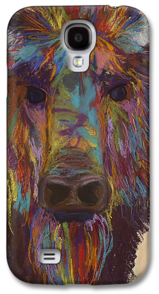 Bison Pastels Galaxy S4 Cases - Untitled Buffalo 2 Galaxy S4 Case by Dana Strotheide