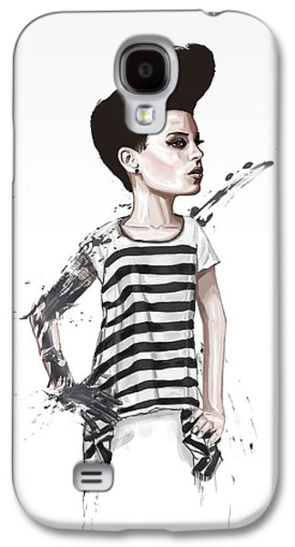 Girl Mixed Media Galaxy S4 Cases - untitled II Galaxy S4 Case by Balazs Solti