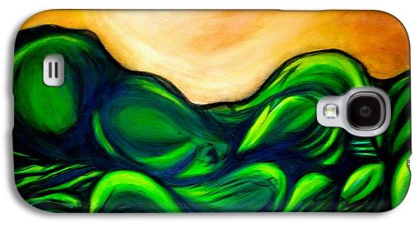 Mystical Landscape Mixed Media Galaxy S4 Cases - Untitled Galaxy S4 Case by Juliann Sweet