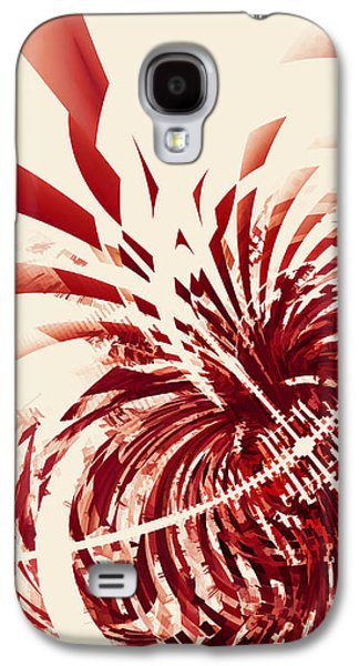 Vertical Digital Art Galaxy S4 Cases - Untitled Red Galaxy S4 Case by Scott Norris