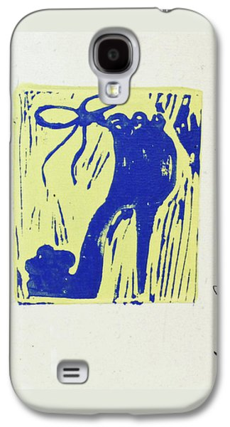 Untitled Shoe Print In Blue And Green Galaxy S4 Case by Lauren Luna