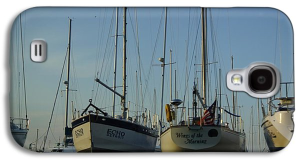 Captains Quarters Galaxy S4 Cases - Sailboats.....  Spring Opening Of The Echo And The Wings Of The Morning  Galaxy S4 Case by Rosemarie E Seppala