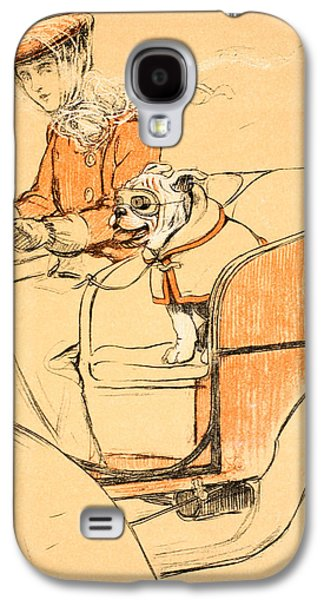 Puppy Drawings Galaxy S4 Cases - Up Front Galaxy S4 Case by Cecil Charles Windsor Aldin