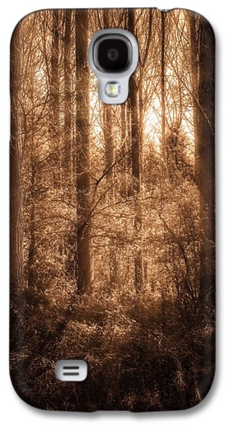 Creepy Galaxy S4 Cases - Light Trough The Forest Galaxy S4 Case by Wim Lanclus