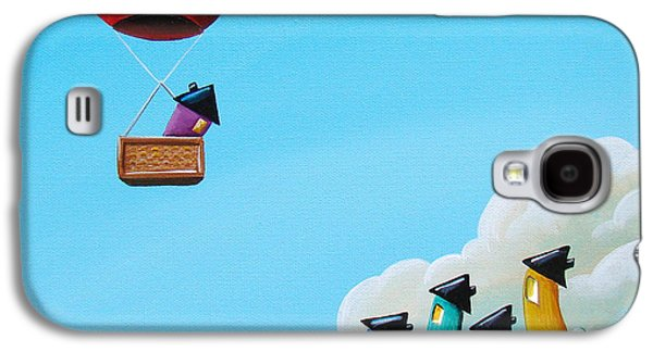Whimsy Galaxy S4 Cases - Up Up and Away Galaxy S4 Case by Cindy Thornton