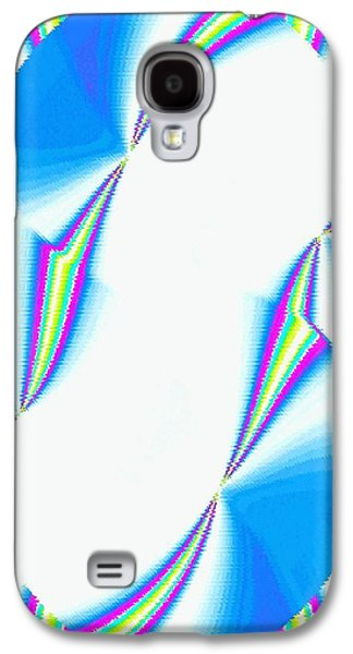 Abstract Digital Galaxy S4 Cases - Upbeat Abstract Oval Galaxy S4 Case by Will Borden