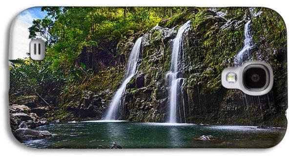 Fall Galaxy S4 Cases - Upper Waikani Falls - the stunningly beautiful Three Bears found in Maui. Galaxy S4 Case by Jamie Pham
