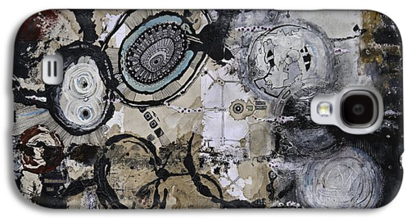 Abstract Collage Drawings Galaxy S4 Cases - Upside Down and Inside Out Galaxy S4 Case by Jay Taylor