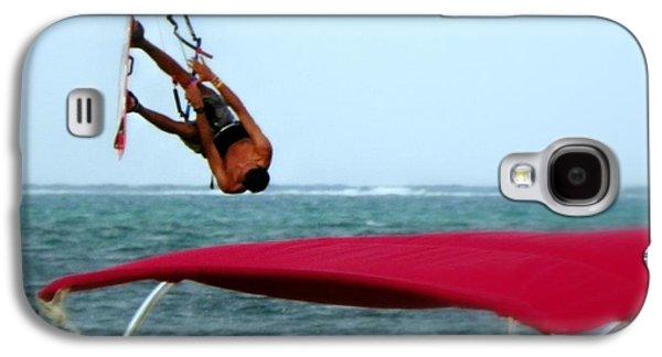 Kite Surfing Galaxy S4 Cases - Upside Down World  Galaxy S4 Case by Karen Wiles
