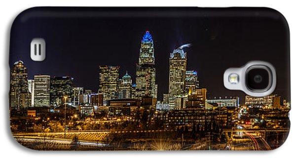Uptown Charlotte Galaxy S4 Cases - Uptown Charlotte Panorama Galaxy S4 Case by Randy Scherkenbach