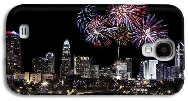 Charlotte Galaxy S4 Cases - Uptown Fireworks 2014 Galaxy S4 Case by Chris Austin
