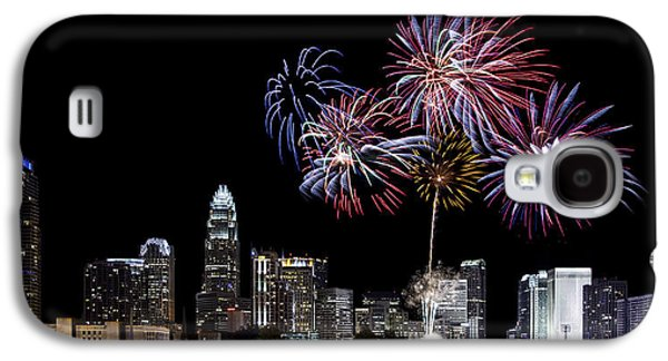 Charlotte Galaxy S4 Cases - Uptown Fireworks 2014 - Pano Galaxy S4 Case by Chris Austin